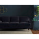 Midnight Blue velvet sofa with a stain resistant finish