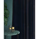 Midnight Blue velvet curtains with a stain resistant finish