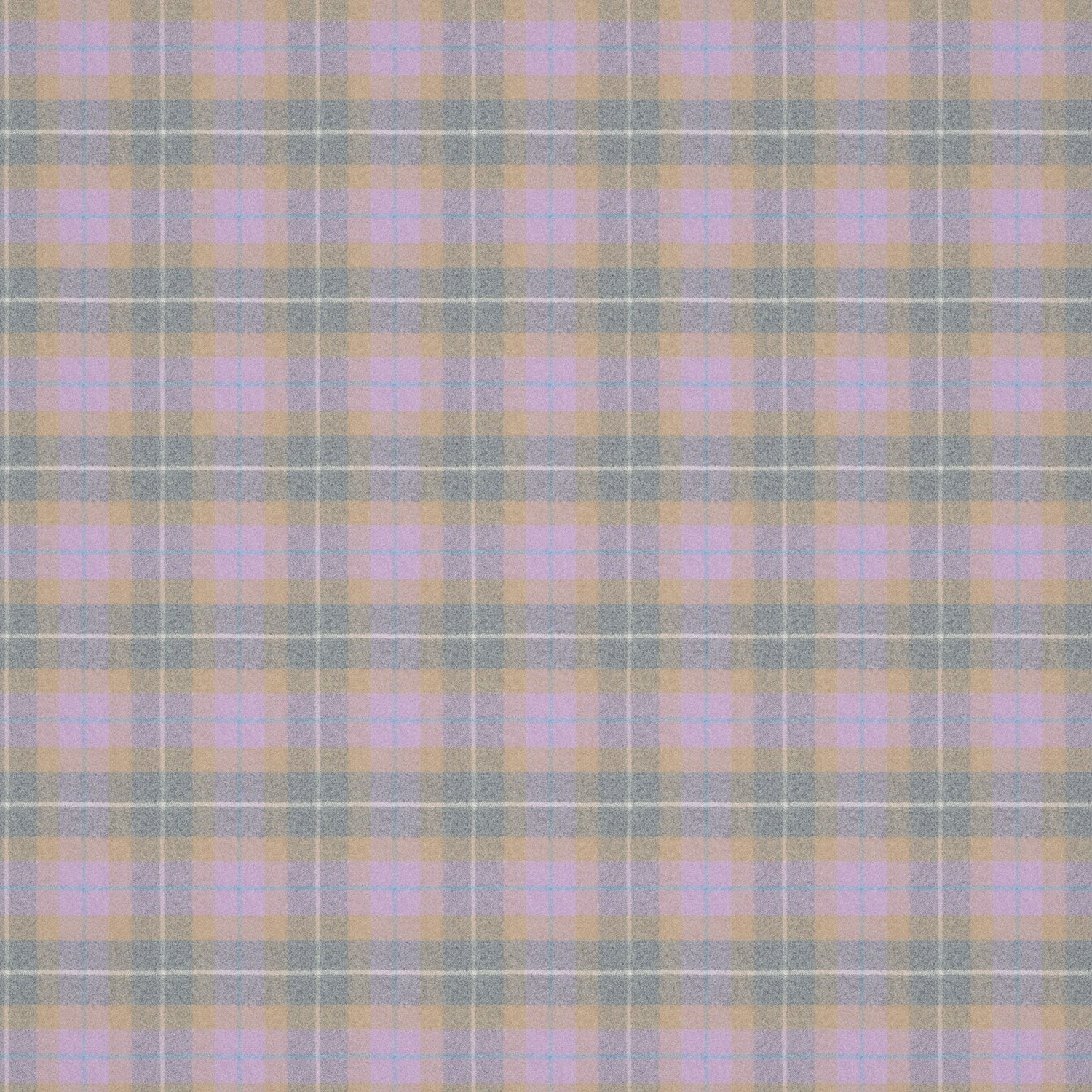 Lilac and grey plaid wool fabric suitable for both curtains and upholstery.