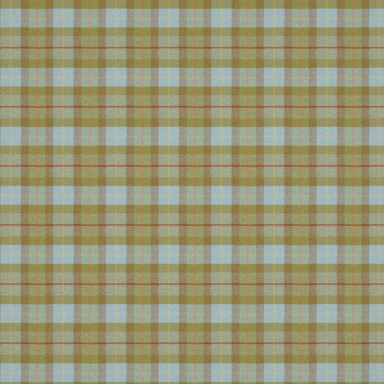 Green and blue wool check fabric suitable for both curtains and upholstery.