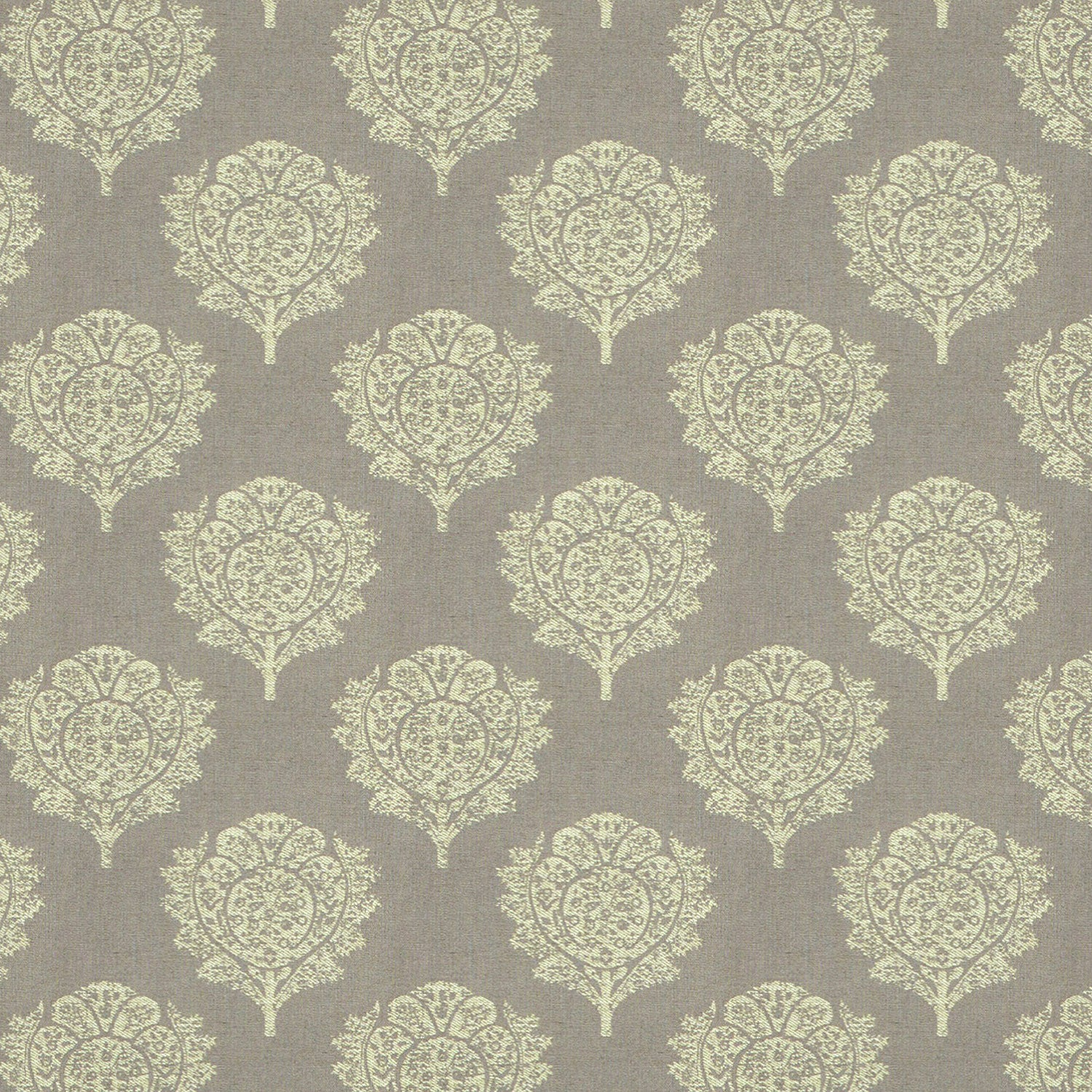 Mauve fabric suitable for both curtains and upholstery with large neutral woven design.