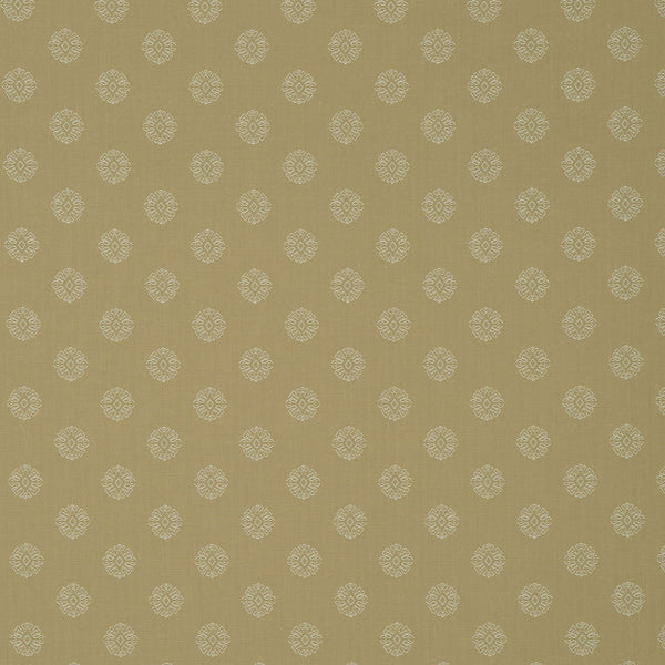 Fabric swatch of a timeless cream fabric with small design for curtains and upholstery
