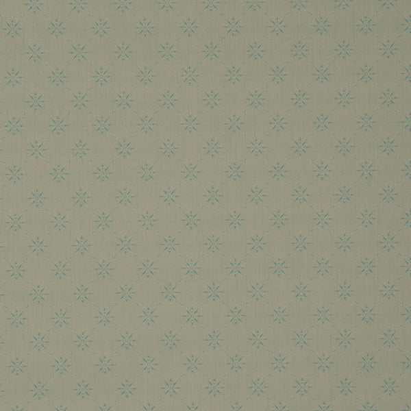 Fabric swatch of a timeless light green fabric with small design for curtains and upholstery