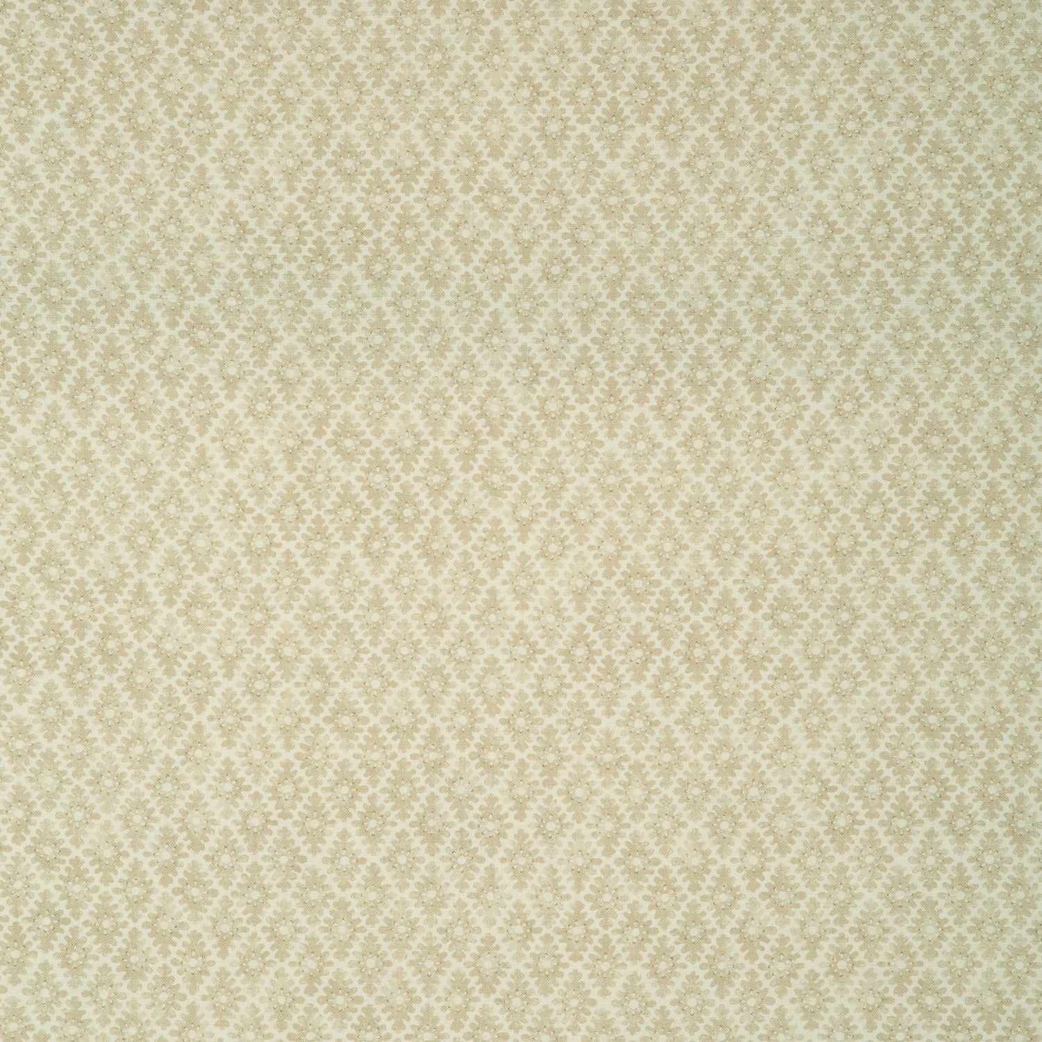 Fabric sample of a light yellow and neutral printed linen fabric for curtains and upholstery