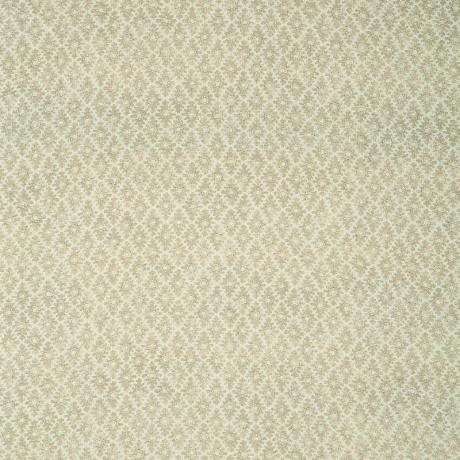 Fabric sample of a neutral printed linen fabric for curtains and upholstery