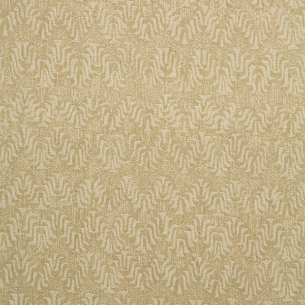 Fabric swatch of a neutral jacquard weave fabric for curtains and upholstery