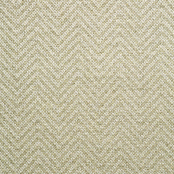 Fabric swatch of a neutral herringbone weave fabric for curtains and upholstery
