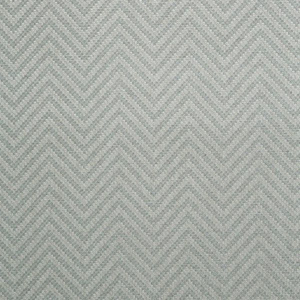 Fabric swatch of a grey herringbone weave fabric for curtains and upholstery