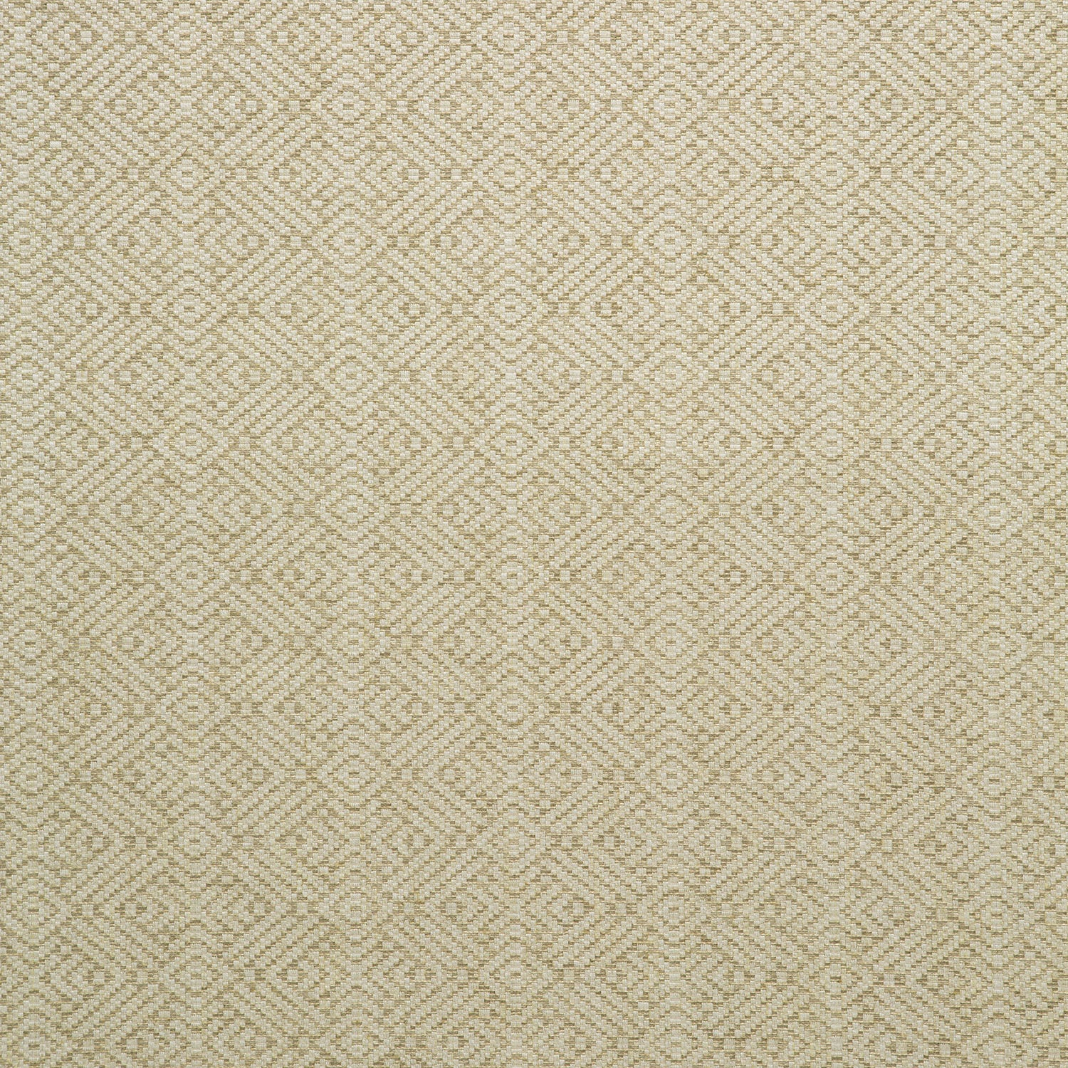 Fabric swatch of a neutral geometric weave fabric for curtains and upholstery