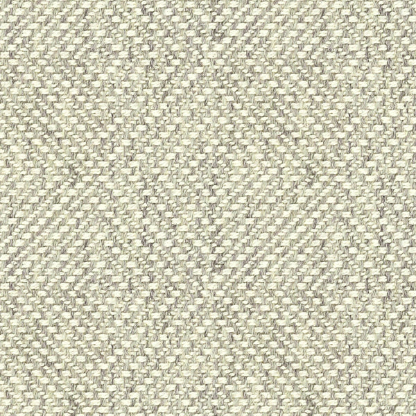 Grey fabric suitable for curtains and upholstery with a white woven geometric design