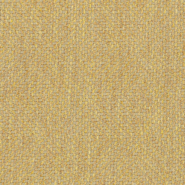 Light yellow fabric suitable for curtains and upholstery with a light neutral woven geometric design