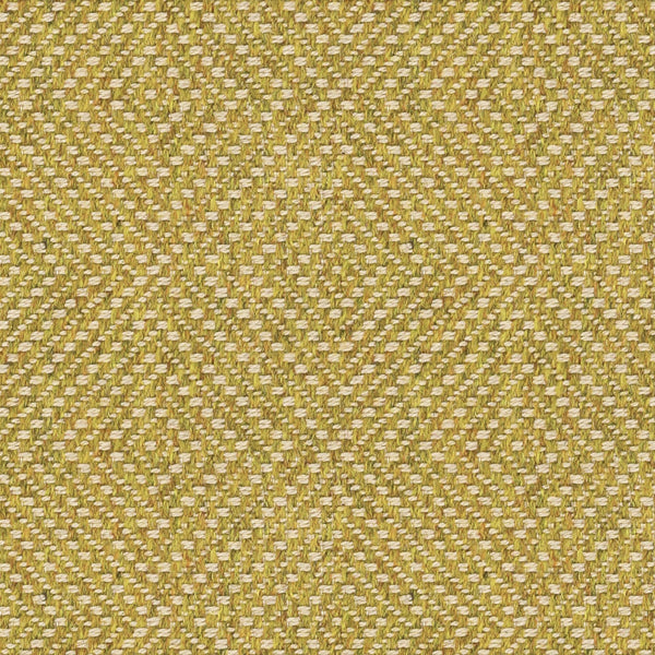 Green yellow fabric suitable for curtains and upholstery with a light neutral geometric woven design
