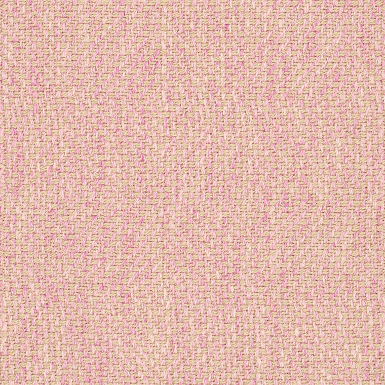 Light pink fabric suitable for curtains and upholstery with a light neutral woven geometric design