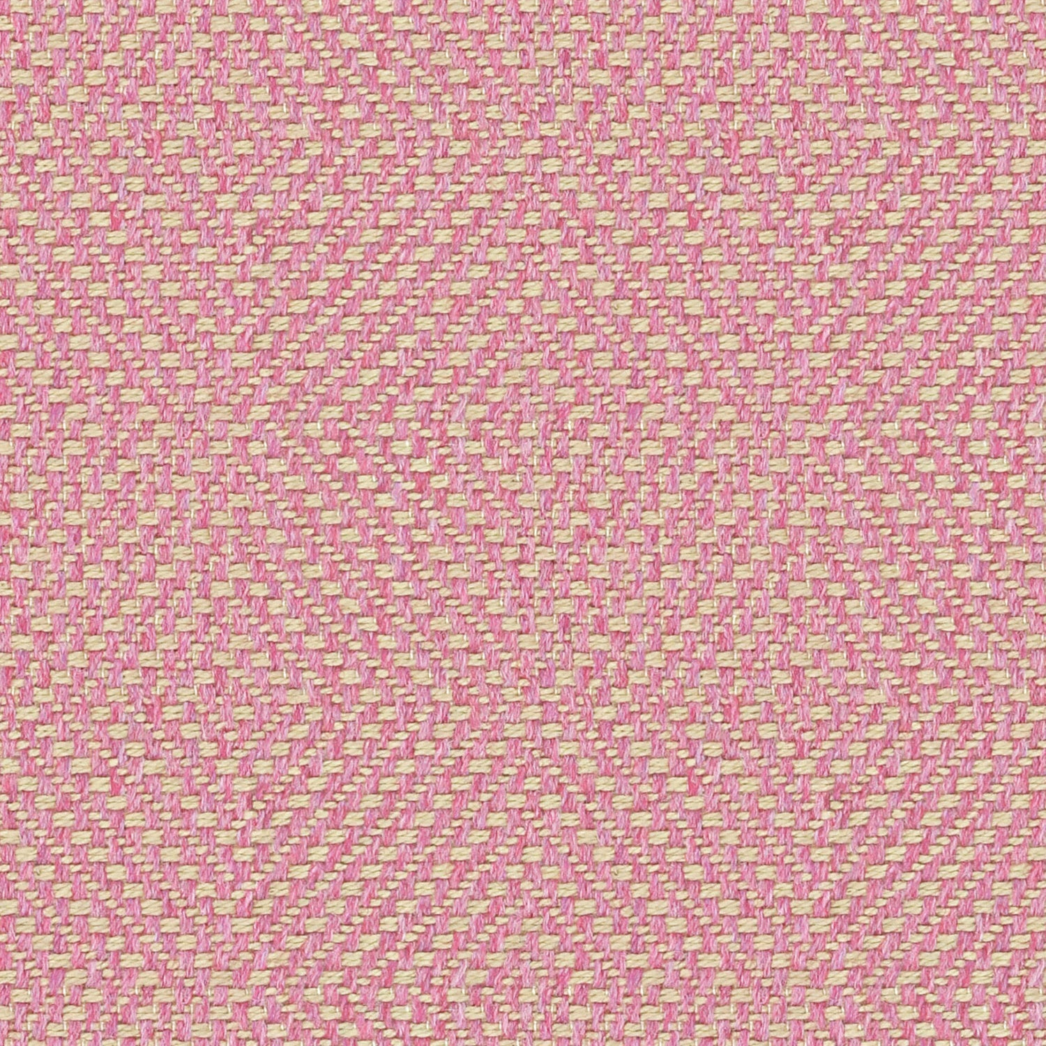 Pink fabric suitable for curtains and upholstery with a light geometric woven design