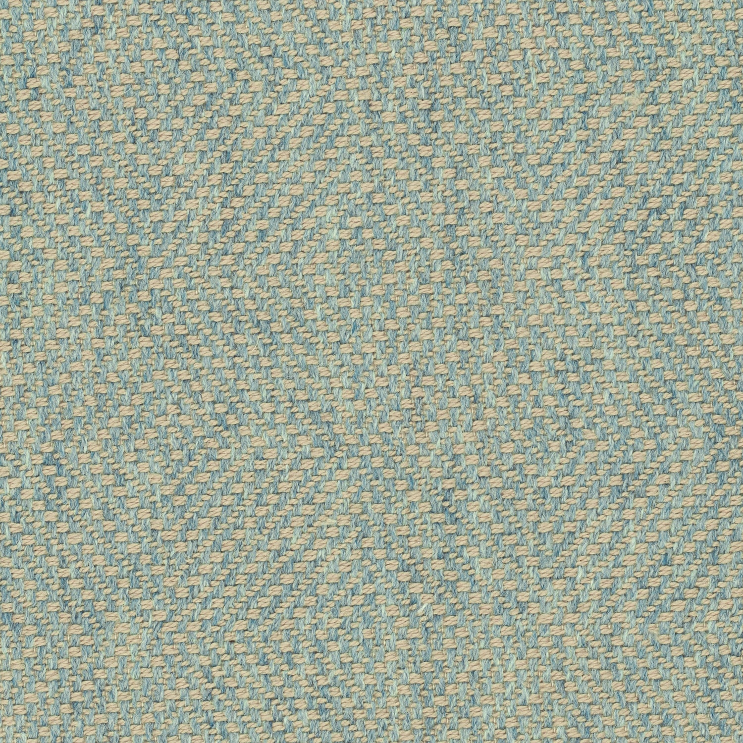Sky blue fabric for curtains and upholstery with a light geometric woven design