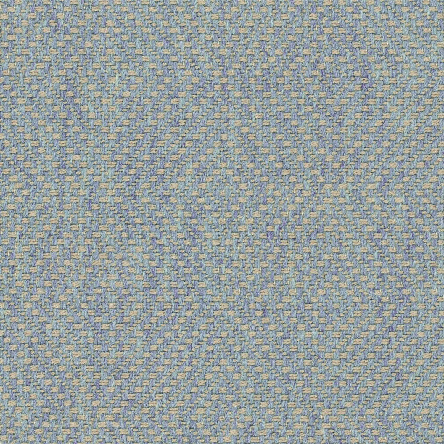 Light blue fabric for curtains and upholstery with a neutral woven geometric design
