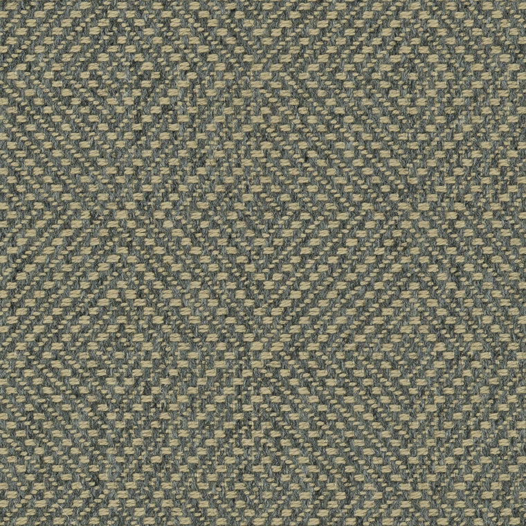 Grey fabric suitable for curtains and upholstery with a light woven geometric design