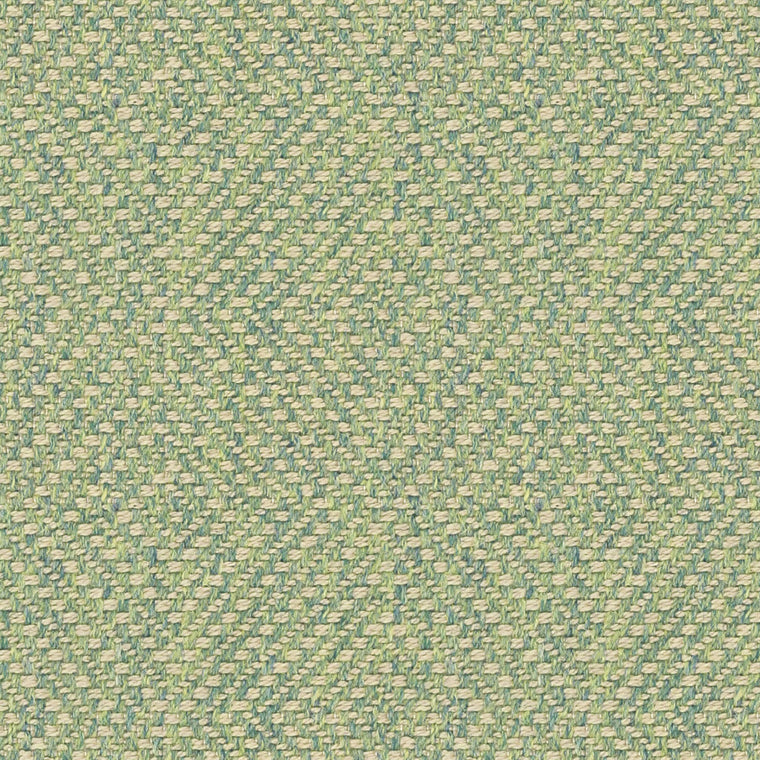 Light green fabric for curtains and upholstery with a neutral woven geometric design