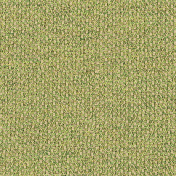 Green fabric suitable for curtains and upholstery with a woven geometric design