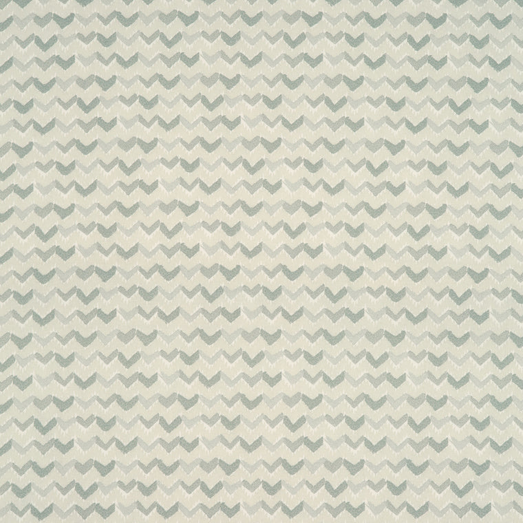 Fabric swatch of a light grey and white cotton fabric with a contemporary horizontal stripe, suitable for curtains, upholstery and loose covers