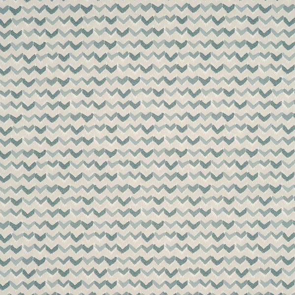 Fabric swatch of a grey and white cotton fabric with a contemporary horizontal stripe, suitable for curtains, upholstery and loose covers