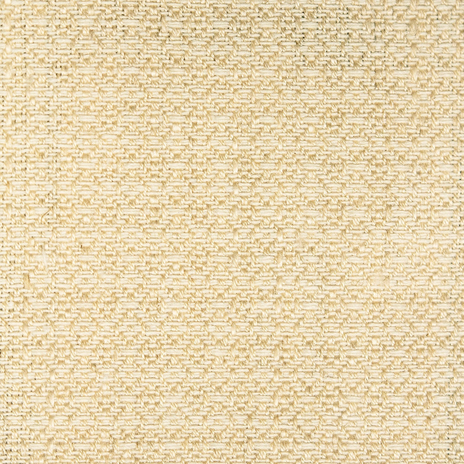 Fabric sample of a light neutral weave fabric with a small diamond design and stain resistant finish for curtains and upholstery