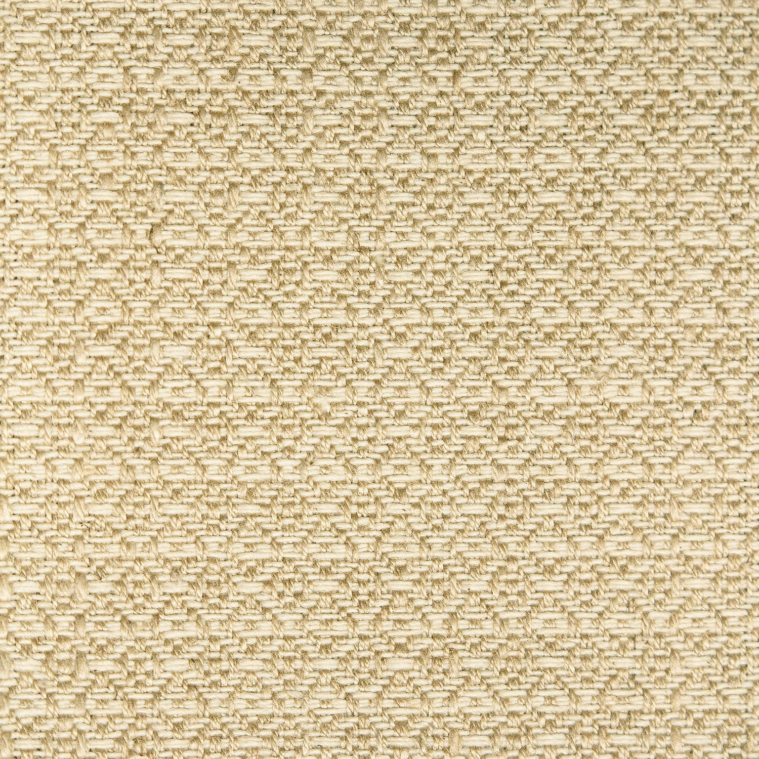 Fabric sample of a neutral weave fabric with a small diamond design and stain resistant finish for curtains and upholstery