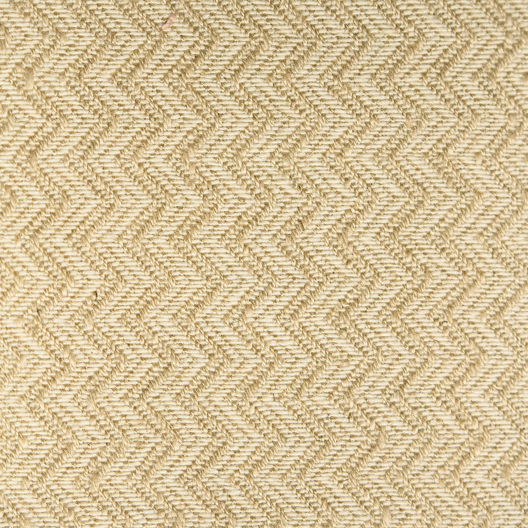 Neutral chevron weave fabric with a stain resistant finish for curtains and upholstery