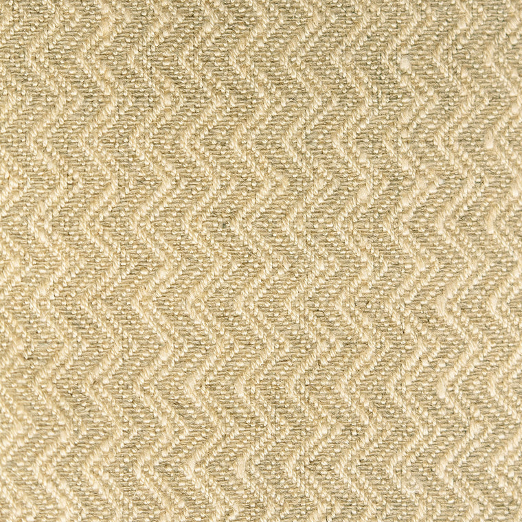 Oatmeal and neutral chevron weave fabric with a stain resistant finish for curtains and upholstery