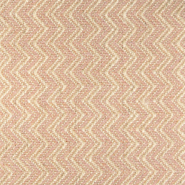 Light pink fabric with chevron weave for contract and domestic curtains or upholstery