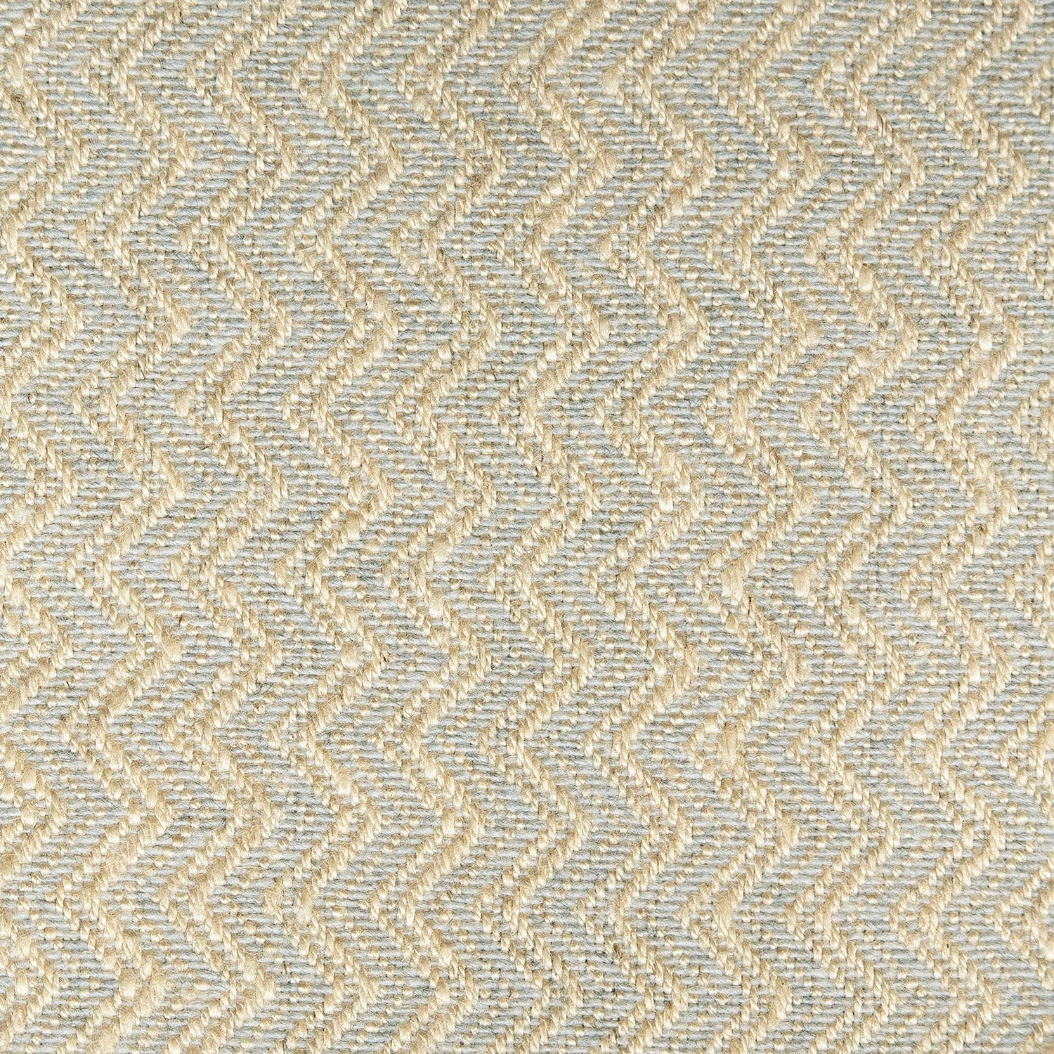 Grey fabric with a zig zag weave design for curtains and upholstery