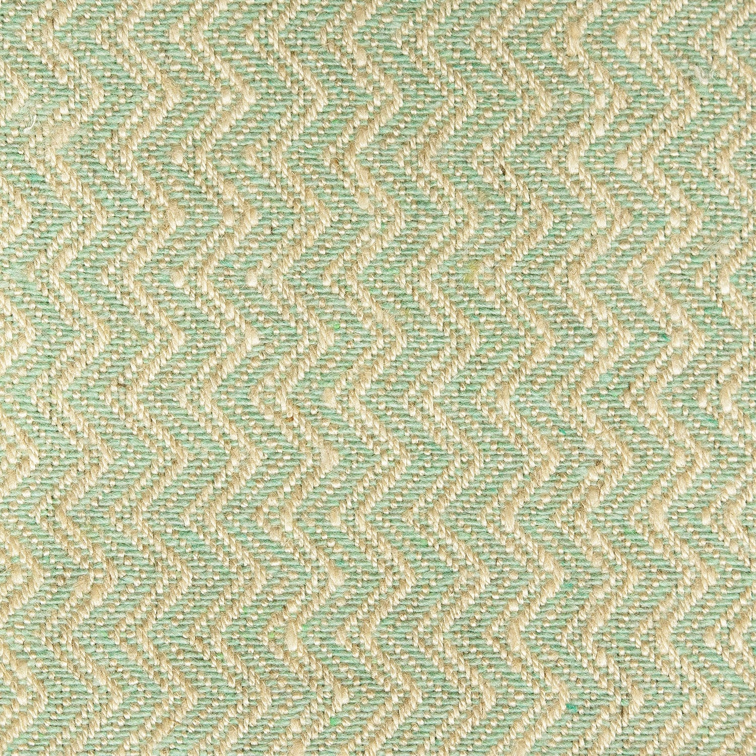 Mint fabric with chevron design for contract or domestic upholstery or curtains