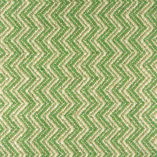 Green fabric with chevron design for curtains and upholstery