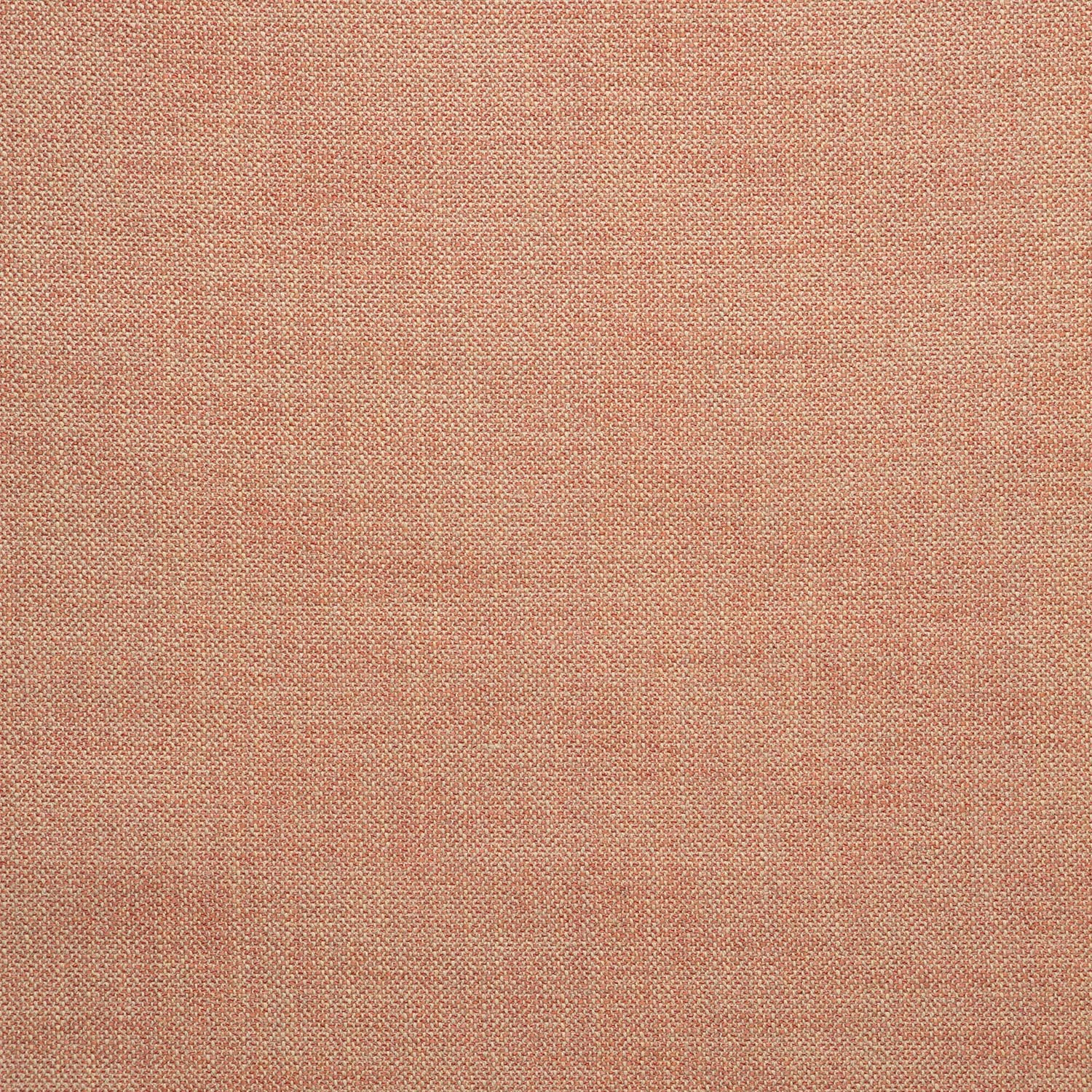Fabric swatch of a plain coral weave fabric for upholstery
