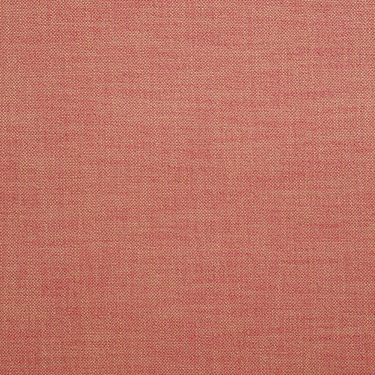 Fabric swatch of a plain red weave fabric for upholstery
