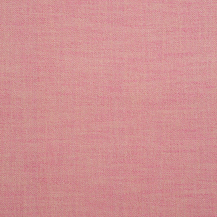 Fabric swatch of a plain pink weave fabric for upholstery