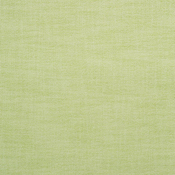 Fabric swatch of a plain bright green weave fabric for upholstery