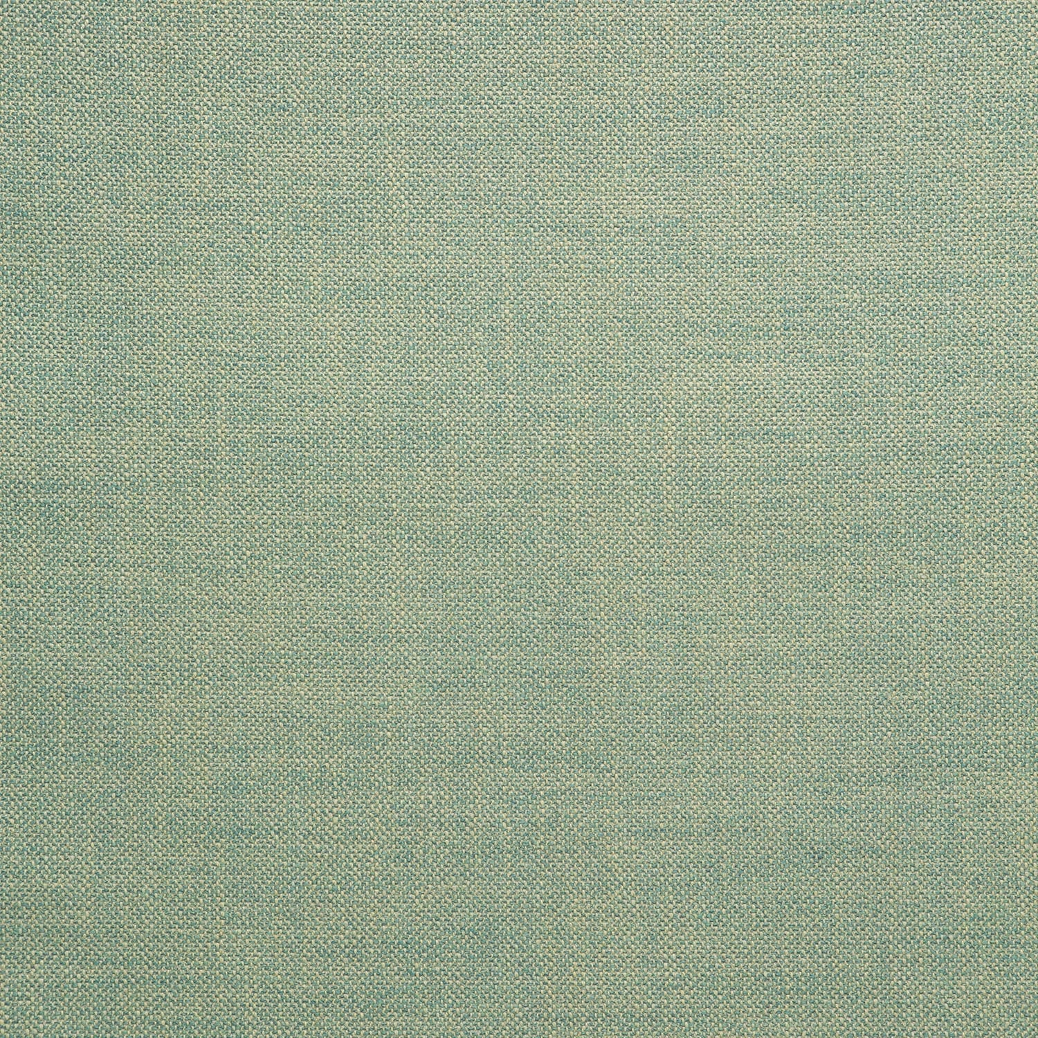 Fabric swatch of a plain turquoise weave fabric for upholstery