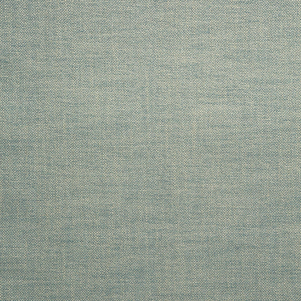 Fabric swatch of a plain cornflower blue weave fabric for upholstery