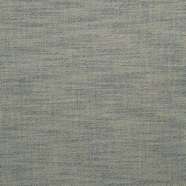 Fabric swatch of a plain dark blue weave fabric for upholstery