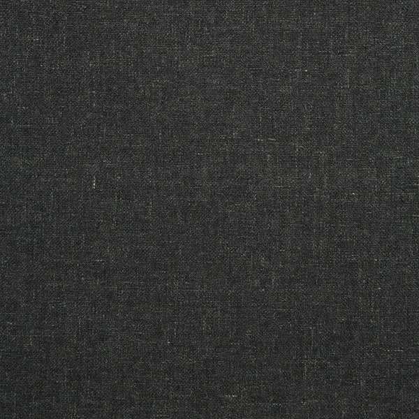 Fabric swatch of a plain black weave fabric for upholstery