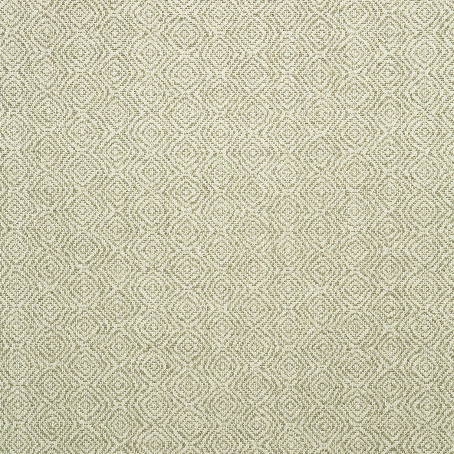 Fabric swatch of a neutral and white geometric weave fabric for upholstery
