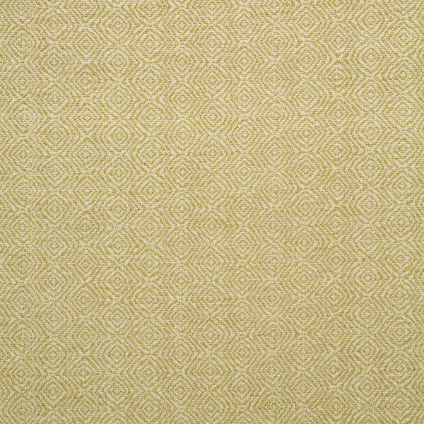 Fabric swatch of a ochre and neutral geometric weave fabric for upholstery