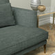 Sofa in a dark grey plain linen mix upholstery fabric