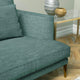 Sofa in a teal linen mix upholstery fabric