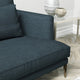 Sofa in a navy linen mix upholstery fabric