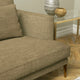 Sofa upholstered in a plain brown linen blend fabric
