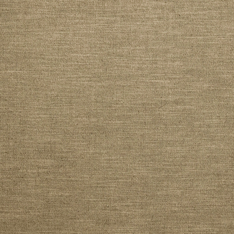 Brown linen blend plain fabric suitable for curtains and upholstery