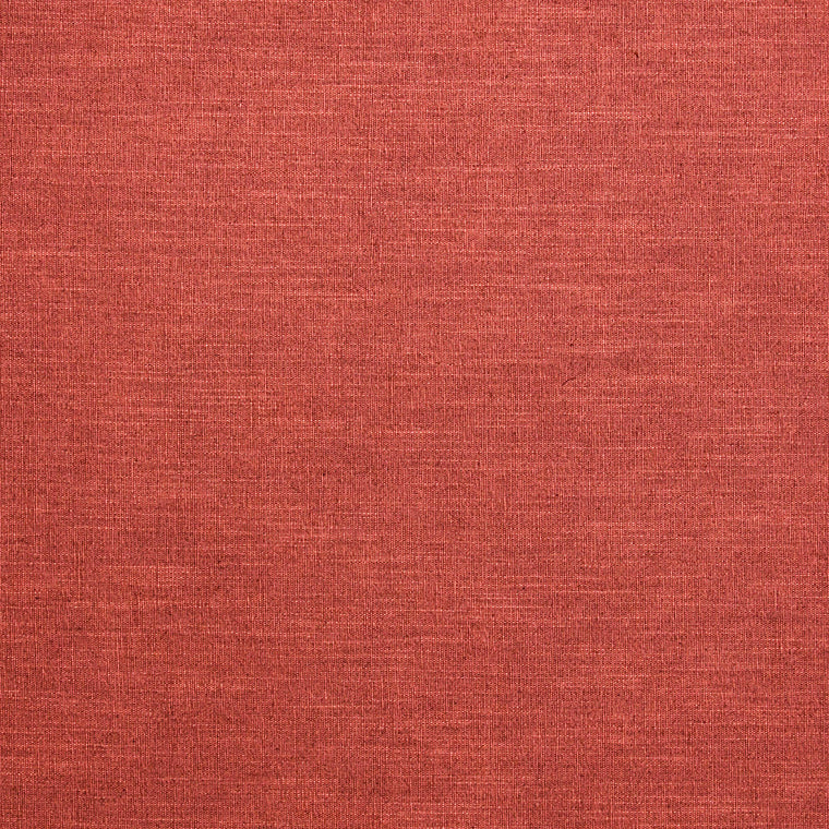 Red linen blend fabric suitable for contract and domestic use