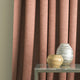 Curtain in a linen blend blush pink fabric